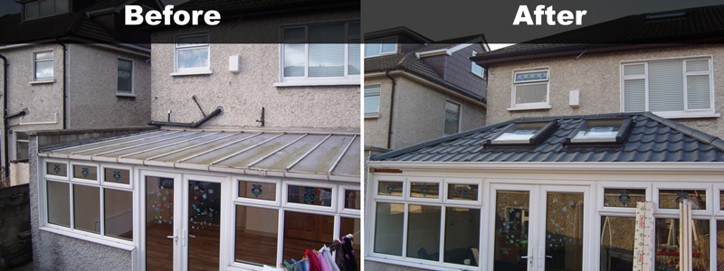 Conservatory roof conversion photos before after conservatory construction pictures pro Factors to consider before building a conservatory